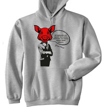 George Orwell - All Animals Are Equal - New Cotton Grey Hoodie - $31.88