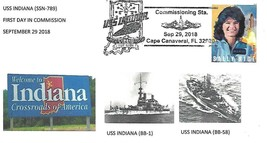 First Day in Commission USS INDIANA (SSN-789) September 29 2018 - $3.47