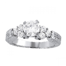 Womens Engagement Anniversary Ring 14k White Gold Finish 925 Silver Roun... - $74.90