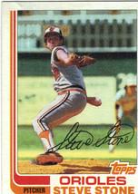 1982 Topps Steven Stone Baltimore Orioles #419 Baseball Card - $1.97