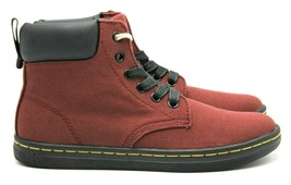 DR. MARTENS Maelly Women's Lightweight Canvas Boots in Cherry Red - Size... - $56.09