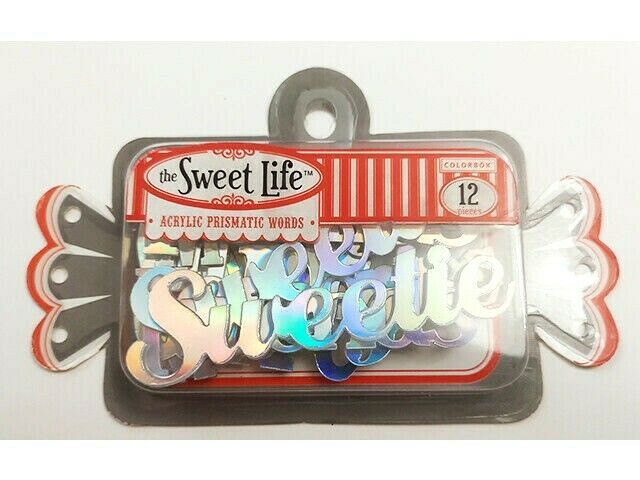 Colorbok The Sweet Lift Acrylic Prismatic Words, 12 Pieces #52521