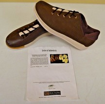 Converse Sample 3hree Brown Leather Shoes sz 14 DWAYNE WADE Personal Owned w COA - $346.49