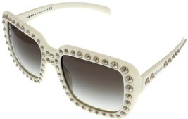 Prada Sunglasses Women Off White Ivory Square PR30QS 7S30A7 - $365.31
