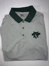 Nike Golf Dri Fit Standard Fit Green White Striped Men's Medium Polo Shirt - $18.98