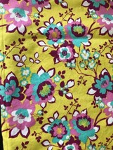 2014 Brother Sister Design Yellow W  Flowers Yardage Cotton Fabric Spring 54x42 - $25.25