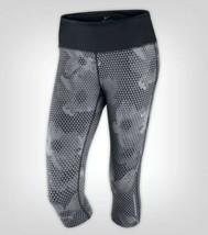 Nike Epic Run Capri SMALL S Corto Pantalone Legging Grigio Nero Triangolo - $31.45