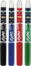 Expo Fine Tip Dry Erase Board Markers Ink Indicator 4 Pack Black Green Red Blue image 5