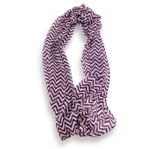 Purple White Chevron Stripped Sheer Infinity Scarf Loop Sheer Wrap Scarv... - $9.49