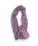 Purple White Chevron Stripped Sheer Infinity Scarf Loop Sheer Wrap Scarv... - €8,71 EUR