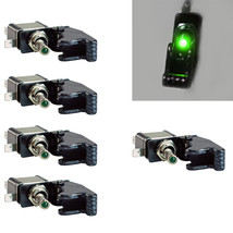 5Pcs 12V 20A Car Carbon Fiber Green LED Toggle Switch Light Racing SPST - $11.44