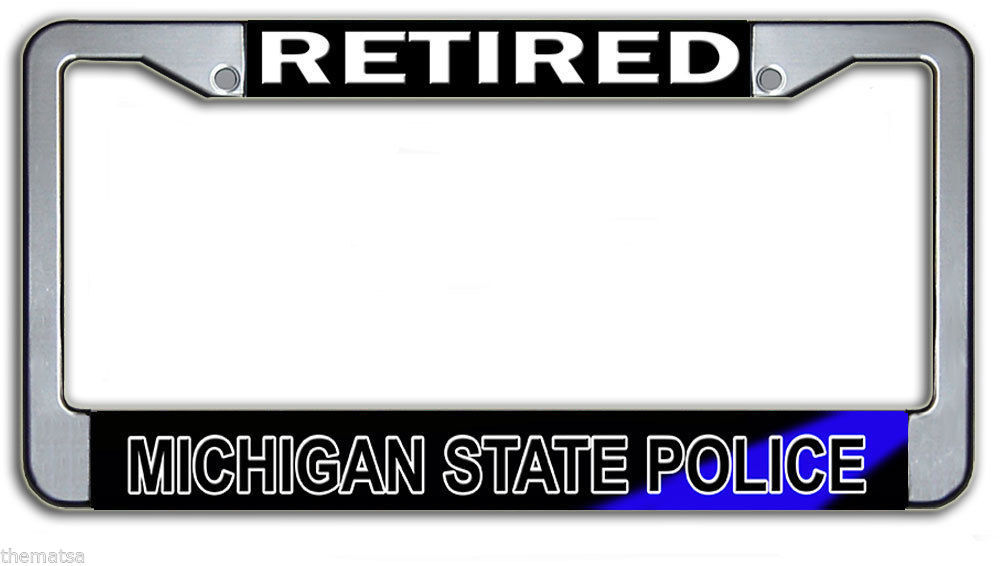 Retired Michigan State Police Metal License and 50 similar items