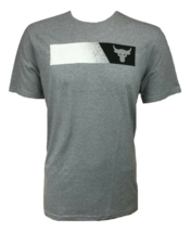 Under Armour Mens UA Project Rock Brahma Bull T-Shirt 1347699-035 Gray S... - $24.98
