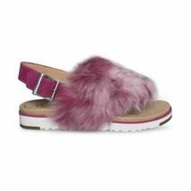 Ugg Holly Cerise Leather Sheepskin Slingback Womens Sandals Size Us 8.5/UK 7 New - $101.99