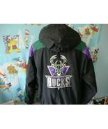 Vintage 90's Milwaukee Bucks NBA Starter Parka Jacket XL  - $257.39