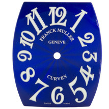 Franck Muller Cintree Curvex 20 x 25 mm Blue Dial for Women's Watch - $399.00