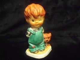 "1957 Vintage Goebel Red Head Boy 'the Roving Eye' By Charlot Byi 4"" Figurine - $27.72"