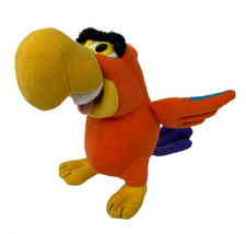 "Disney Mattel Plush Lago Aladdin Orange Parrot Jafar's Bird Stuffed Animal 8"" - $11.99"