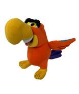 Disney Mattel Plush Lago Aladdin Orange Parrot Jafar's Bird Stuffed Anim... - $11.99