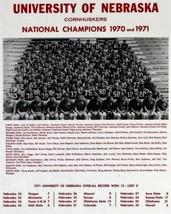 1970-71 Nebraska Cornhuskers 8X10 Team Photo Picture Ncaa Football Champs - $3.95