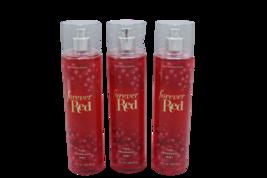 x3 Bath and Body Works Forever Red Fine Fragrance Mist Splash Spray - $39.99