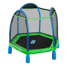 7ft My First Trampoline Kids Indoor Outdoor Bounce Pro 7' Round Age 3 - 10 - $325.71
