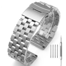 Solid Stainless Steel Watch Band Strap Bracelet Wristband 22mm with Doub... - $49.10