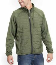 Orvis Men's Dark Sage Green Mixed Media Zipper Quilted Jacket Size Medium NWT