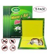 5 piezas trampa para ratas pegamento extra fuerte bichos serpientes roed... - $19.39