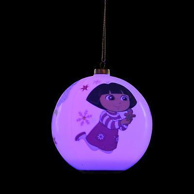"Carlton Cards 3.25"" Heirloom LED Dora the Explorer Christmas Ornament"