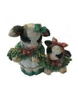 """MARY RHYNER 1994 """"DECK THE HALLS WITH COWS OF HOLLY"""" CERAMIC ORNAMENT BY... - $17.54"""