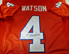DESHAUN WATSON / AUTOGRAPHED HOUSTON TEXANS ORANGE CUSTOM FOOTBALL JERSEY / COA image 1