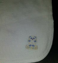Gerber Blue Panda Bear White I Love You Waffle Knit Cotton Thermal Blank... - $29.65