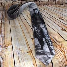 James Dean Men's Neck Tie 1991 Ralph Marlin Original Gray Good Condition image 2