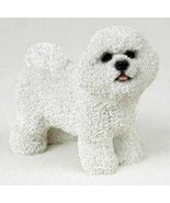 BICHON FRISE DOG Figurine Statue Hand Painted Resin Gift Pet Lovers Brindle - $19.99