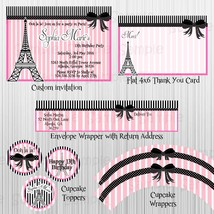Pink, Paris Party: Birthday, Baby Shower, Bridal Shower with invitation - $28.00