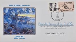 April 6 1990 Philatelic History Civil War Battle of Shiloh Commence 4 ce... - $9.99