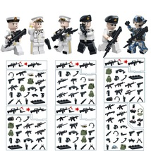 WW2 Air Military Soldier With 300 Weapon Vest Knife Etc Fit Lego Block, ... - $14.99