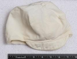 Vintage Light Yellow Corduroy Baby Hat jds - $9.89