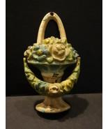 All Original Antique HUBLEY Basket Of Flowers Cast Iron DOOR KNOCKER - $195.00