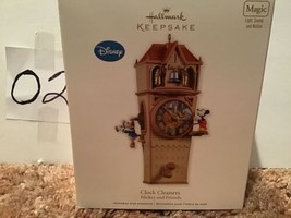 Hallmark Disney Ornament Clock Cleaners Mickey and Friends Christmas - ... - $99.99