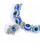 Charm Evil Eye Bead Protection Good Luck Bracelet Jewelry Hand Bracelet  - £13.09 GBP