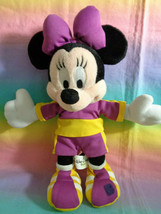 Walt Disney World Minnie Mouse Soccer Bean Bag Plush - as is missing soc... - $8.86