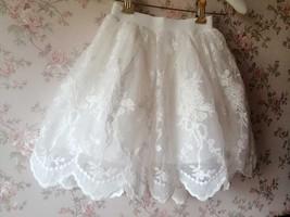 Mini Lace Baby Tutu Girl White Tutu Skirt image 3