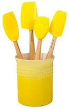 Le Creuset of America Craft Series 5Piece Utensil Set with Crock -Soleil... - $77.21