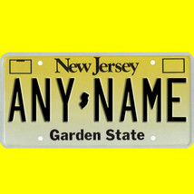 1/43-1/5 scale custom license plates any brand RC/model car - New Jersey... - $11.00