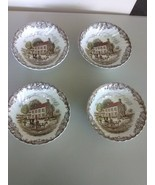 """4 Staffordshire Heritage Hall Cereal/Berry Bowls 6"""" - Pennslyvania Field... - $13.75"""