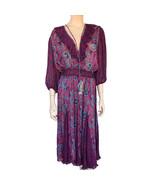 Vintage 1980's Diane Freis Paisley Print Georgette Dress - £229.64 GBP