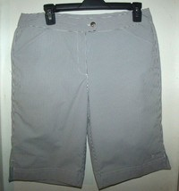 Callaway Womens Golf Shorts Black White Striped Size 8 - $19.59