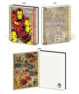 Iron Man Retro Design Marvel Comics Lined Spiral Journal Diary Notebook ... - $13.85